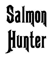 車のステッカーの装飾 12.4 * 10CM SALMONR楽しい釣りビニールデカールステッカーテキストオートブラックシルバー (Color Name : Black)