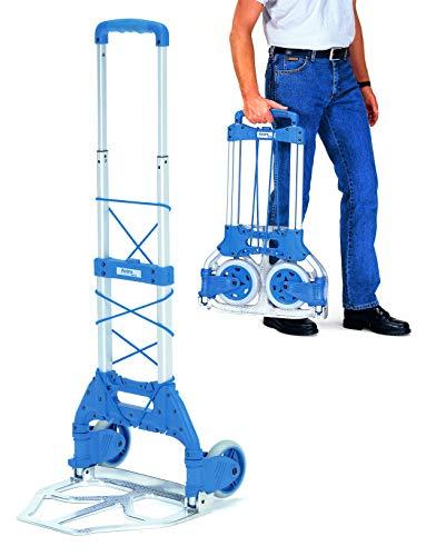 Sackkarre falt- & klappbar | tragbare Transporthilfe - Eigengewicht nur 3,2 kg | Traglast: 50 kg - Fasskarre aus Aluminium
