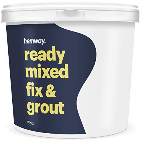 Hemway Hochwertige Fertigmischung Fixierer und Fugenmörtel, 4,5 kg, 2,5 l, weiß