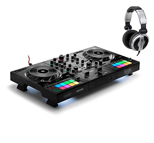 Hercules DJ Control Inpulse 500 Set (2-Deck Controller mit Software inkl. Kopfhörer)