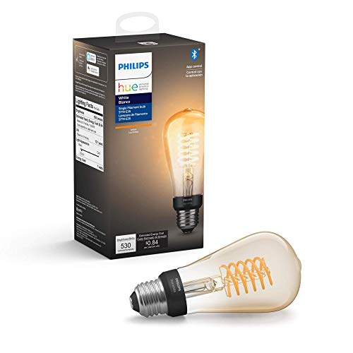 Philips Hue 551788 Filament Smart light bulb, 1-Pack, Amber