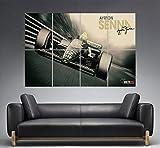 Ayrton Senna Legend F1 Poster A0 Large Print