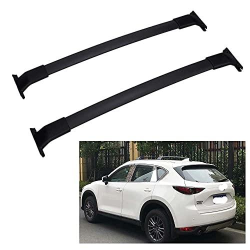 2 piezas Bacas para vehículos Barras de techo de aluminio para Mazda CX-5 CX5 2012-2020, portaequipajes de techo con barra transversal para equipaje de bicicleta para viajes