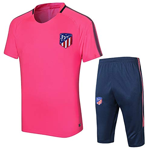 PARTAS Atletico Madrid Football Wear Verein Uniform Short Sleeve Trainingsanzug Wettbewerb Anzug Herren-Geschenk-Ausrüstungs-T-Shirt Männer Jersey 2 Stück Sets (Size : M)
