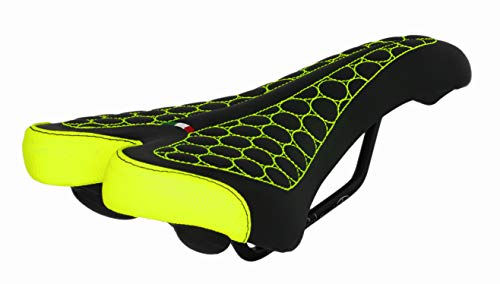 Sillín FatBike Montegrappa para bicicleta MTB Trekking Unisex Mod. SM 4010 Made in Italy Color Amarillo