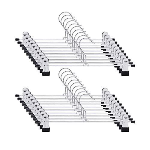 Metall Hosenbügel Kleiderbügel für Hosen Socken Röcke,delstahl Platzsparend Hosenbügel Kleiderbügel,-Multifunktions-Hosenständer aus Metall (20 Pack)