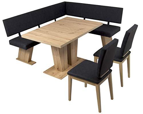 MSZ Design Eckbank Eckbankgruppe Essgruppe Verona 181 x 150 cm Artisan Eiche