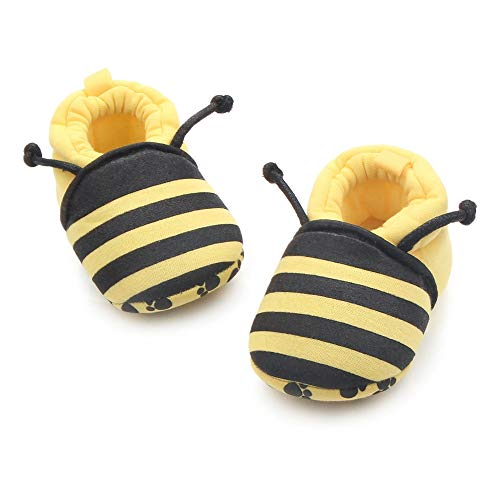 Save Beautiful Cute Cartoon Infant Unisex Baby Warm Cotton Anti-Slip Soft Sole First Walkers Shoes (0-6 Months, bee)