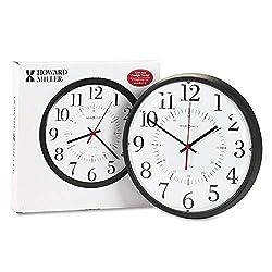 Alton Auto Daylight Savings Wall Clock, 14, Black