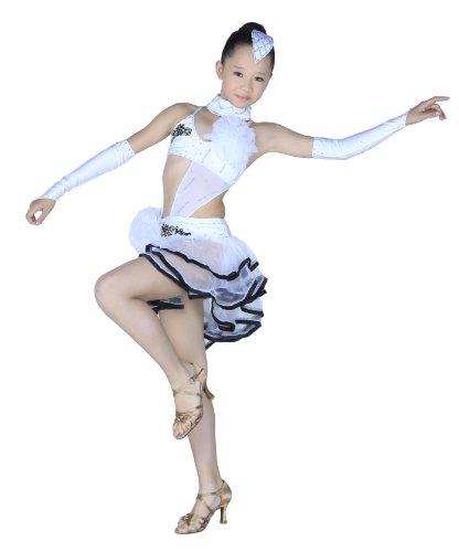 Colorfulworldstore Mädchen tanzkleid für lateinamerikanische Turniertänze Oberteil Rock