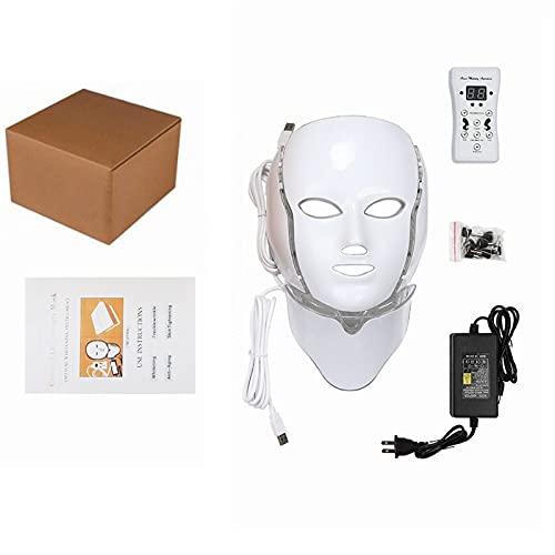 Instrument de beauté de rajeunissement de la peau, 7 couleurs LED masque facial Skin Thérapie léger, outil de soin de la peau de blanchiment coréen, pour la réduction de l'acné anti-vieillissement