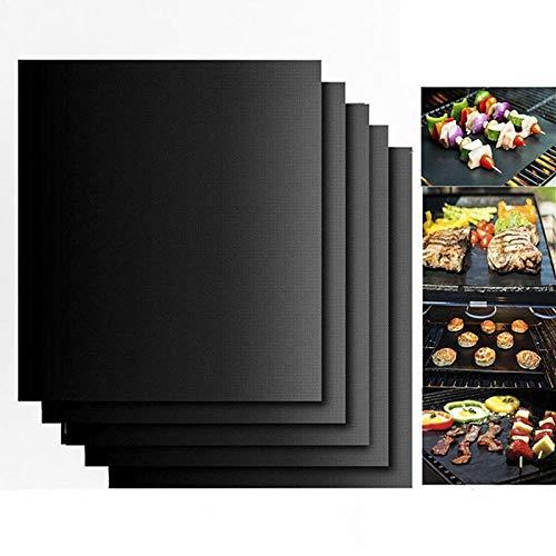 HotMats Gemakkelijk BBQ Grill Mat Bak NonStick Matten Zoals gezien Mat Handige Herbruikbare Nonstick BBQ Grill Mat Bak Pad Barbecue Pad 33cm*40cm*0.25mm Zwart