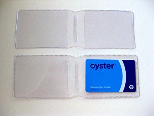 1x Claro plástico Tarjeta Oyster Tipo Cartera/Cartera de Tarjeta de Titular de la Tarjeta de Crédito/ID/Tarjetero/Travel Pass Funda–Fabricado en el Reino Unido