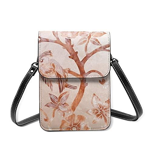 Sac à bandoulière léger pour femme avec emplacements pour cartes Motif floral - Rouge - 8 pansements décoratifs muraux, Taille unique