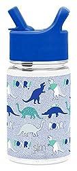 3. Simple Modern Tritan Dinosaur Roar Water Bottle with Straw, 14oz