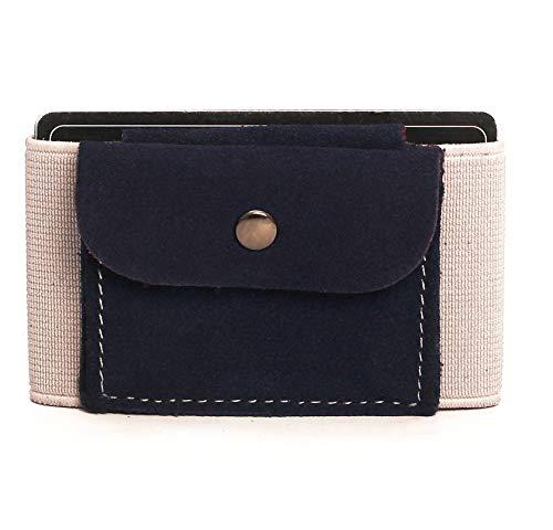 (Neue Qualität) Premium Slim Wallet mit Münzfach & Geldklammer – Mini Portemonnaie für Herren & Damen - Kleine Geldbörse, minimalistisches Kartenetui - Top Grain Leder