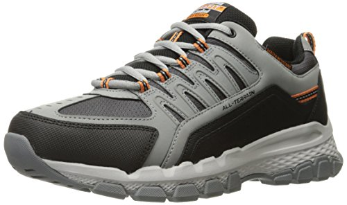 Skechers Outland 2.0 Rip Staver Oxford - Zapatillas para hombre, Gris (Carbón/Negro), 9 D(M) US