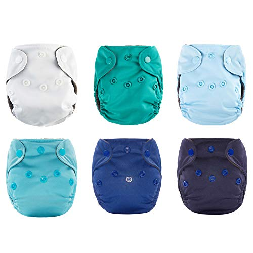 Newborn Cloth Diaper All in One with Umbilical Cord Snap