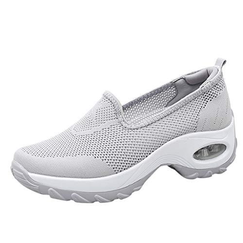 Scarpe Estive Donna,Scarpe Eleganti,Scarpe Sneaker,Scarpe Sportive,Yanhoo®Moda Donna Cuscino d'Aria Piattaforma Scarpe Shake Scarpe Slip Sport Sneakers (37=Asia 38, Grigio1)