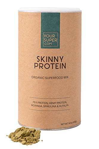 Your Superfoods Skinny Protein Superfood - Veganer Bio-Pulver-Mix Mischung zum Abnehmen, Hunger kontrollieren, Erholung nach dem Training, essentielle Aminosäuren, Non-GMO, Bio-Spirulina - 400g