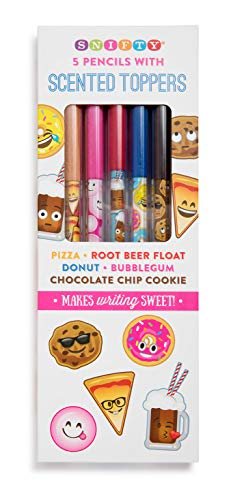 Scented Pencil Toppers with Emoji Themed Pencils (5 Pack)