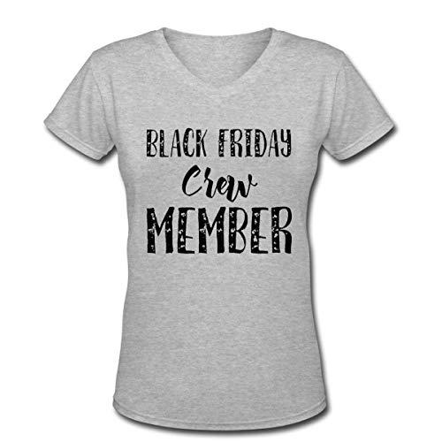 Black Friday Crew Member Women's Short Sleeve Cotton V-Neck T-Shirt