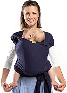 Boba Wrap Carrier For Newborn Babies and Children up to 35 lbs, Navy Blue, BW1-008