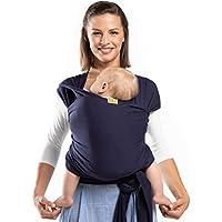 Portabebés Boba, el original Portador de Bebés Elástico, Perfecto para Bebés Recién Nacidos y Niños de hasta 35 lbs. (Navy Blue)