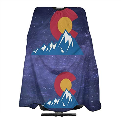Colorado State Flag With Rocky Mountains Haircut Apron Professional Salon Cape Hairdressing Cape Anti-Static Hair Cutting Cloak Shampoo-proof Barbershop Supplies Barber Haircut Apron For Adult