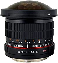 Rokinon HD8M-N 8mm f/3.5 HD Fisheye Lens with Auto Aperture Chip and Removable Hood for Nikon DSLR 8-8mm, Fixed-Non-Zoom Lens