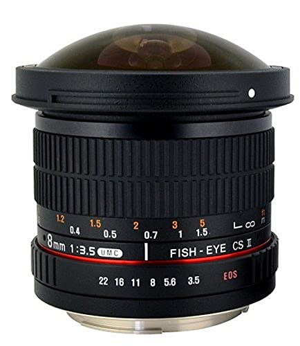 Rokinon HD8M-N 8mm f/3.5 HD Fisheye Lens with Auto Aperture Chip and...