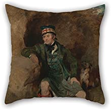 beeyoo Oil Painting Sir Edwin Henry Landseer - Donald McIntyre Pillow Shams Best for Gf Living Room Teens Boys Chair Son Kids Room 18 X 18 Inches / 45 by 45 cm(Two Sides)
