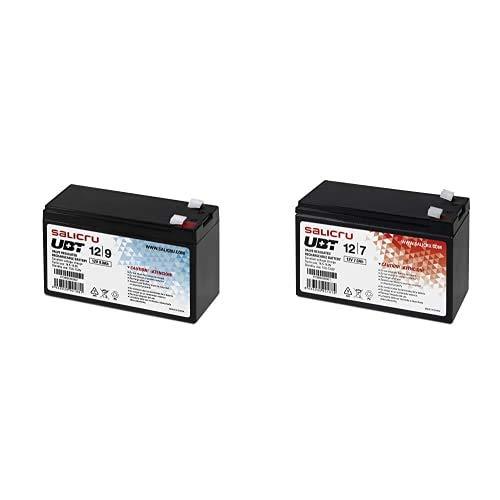Salicru 013BS000002 Batería PBCA AGM 5Y 12V/9Ah 151X65X100MM (Android), Negro + 013BS000001 Baterías para Sistemas ups, Sealed Lead Acid (VRLA), 7 Ah, 12 V, Color Negro
