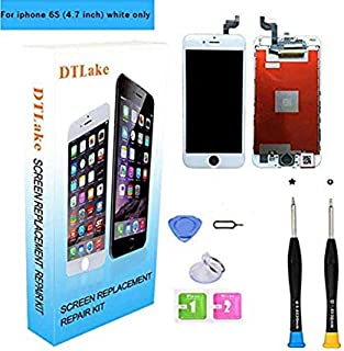 Premium Screen Replacement, Compatible iPhone 6S 4.7inch (Model A1633, A1688, A1700) LCD Replacement Screen with 3D Touch Screen Digitizer Fram Assembly Full Set + Free Tools (White)