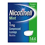 Nicotinell Nicotine Lozenge, Quit Smoking Aid, Sugar Free Mint Flavour, 1 mg, 144 Pieces