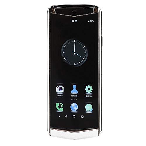 ciciglow Smartphone, M17 Red Completa 4G Mini Smart 1GB + 16GB Cuero de PU Teléfono móvil Tarjeta Dual Doble Modo de Espera 2300mAh Batería para Android 8.1, Teléfono móvil(Enchufe de la UE)