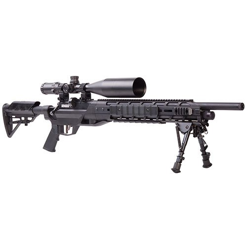 Benjamin Armada BTAP25SX PCP-Powered Multi-Shot Bolt Action .25- Caliber Pellet Hunting And Target Air Rifle With 4-16x50 mm Riflescope , Black
