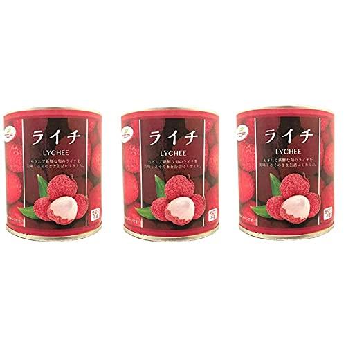 ライチ缶詰 300g×3缶 シロップ漬け プルトップ缶 まとめ買い 業務用 缶詰め フルーツ ビタミン 美容 健康