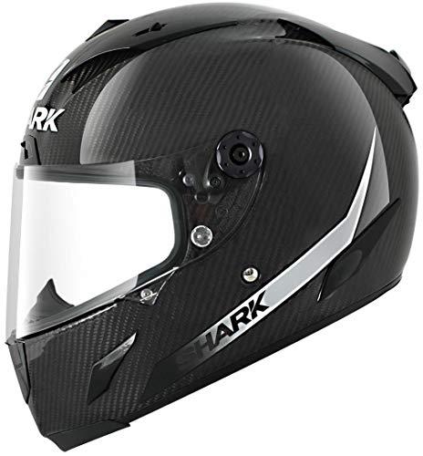 Shark Race-R Pro Carbon Skin Mat Helm, Farbe schwarz-weiss, Größe XL(61/62)