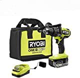 RYOBI ONE+ HP 18V Brushless Cordless 1/2 in. Hammer Drill Kit with (1) 4.0 Ah High Performance Battery, Charger, and Tool Bag