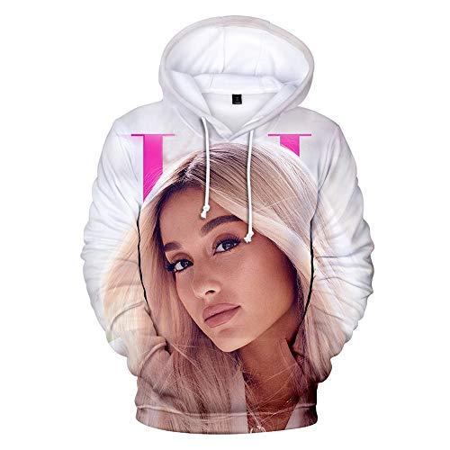 MissAc Frauen Hoodie Lockerer Lässiger Pullover Ariana Grande 3D Gedruckter Hoodie Mädchen Süßes Langarm Sweatshirt
