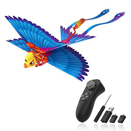 Hanvon Go Go Bird Juguetes Voladores,HelicóPtero De Control Remoto, PáJaro BióNico,UAV Juguetes TecnolóGicos,Juguetes Voladores Simples para NiñOs,NiñOs Y NiñAs,Azul