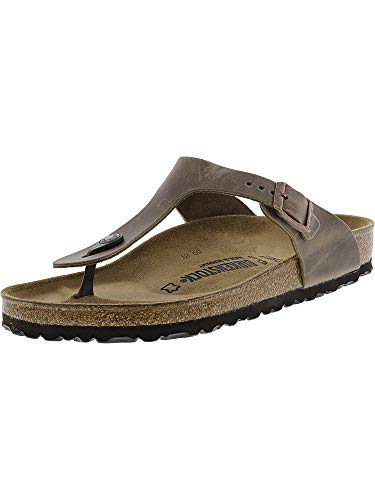 Birkenstock Gizeh Oiled Leather Tobacco Oiled Leather 36 (US Women's 5-5.5) Regular