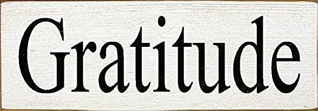 Sawdust City Wooden Sign - Gratitude (Old Cottage White)