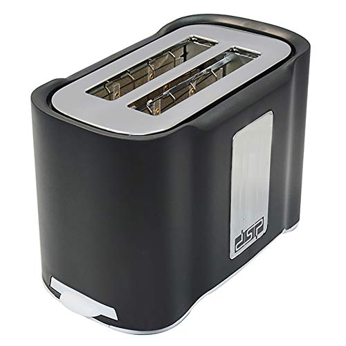 Automatik Toaster 2 Scheiben Toaster Aus Edelstahl Toaster 850W, Breit Schlitz,6 Bräunungsstufen,Brotzentrierung,Krümelschublade, Auftau,Stopp Funktion
