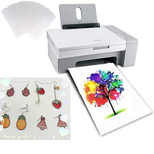 10PCS A4 Size Heat Shrink Plastic Sheet Printable Paper Heat Shrink Paper DIY Art Jewelry Craft for Inkjet Printer (Semitransparent)