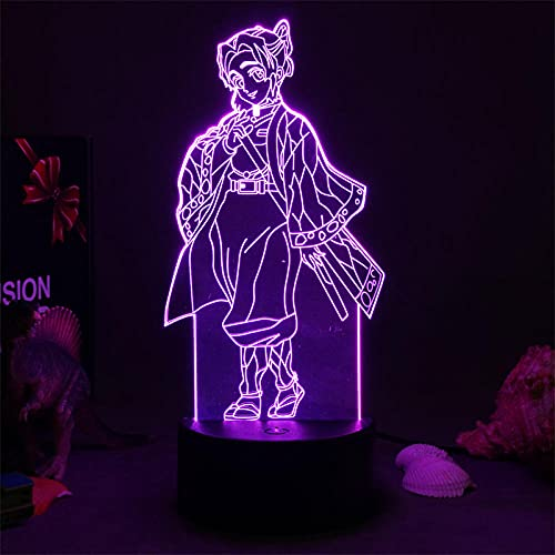 Kochou Shinobu Kimetsu No Yaiba Anime Lampada da notte per bambini, decorazione per la camera da...