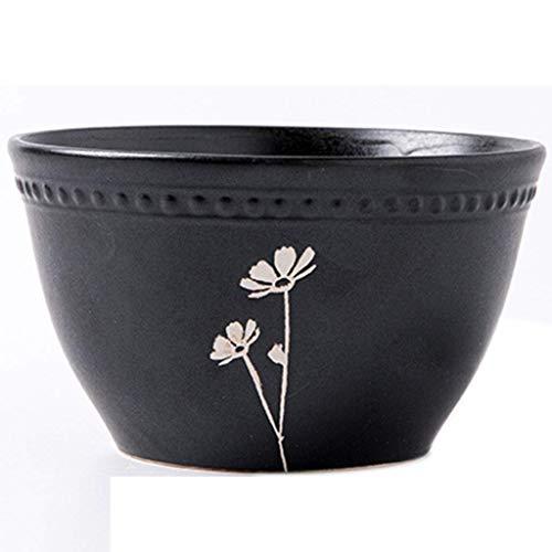 LILICEN Tazón de sopa de cerámica casa tazón plato de fideos tazón de fuente redondo adultos tazón de arroz de cerámica creativa tazón de sopa de fideos de pintado a mano tazón pequeño cuenco de regal
