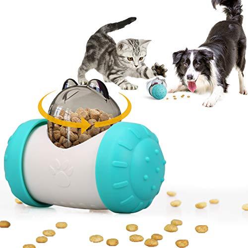 KINGLEAD Distributore di Cibo per Gatti/Cani,Giocattoli Interattivi per Cani,Giocattolo di Puzzle Dell'animale Domestico,Giocattolo per Cani,Giocattolo per Animali Domestici di Piccola,Media (Bleu)