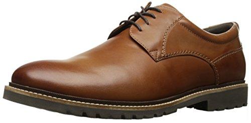 Preisvergleich Produktbild Rockport Marshall Herren-Oxford-Schuh mit einfarbigem Zehenbereich,  Braun (Cognac-Leder),  38.5 EU